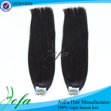 Real human hair good quality double drawn tape in hair extentions