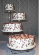 4 Tier Beautiful High Clear Detachable Cheap Acrylic wedding cake stand, Acrylic cake Stand