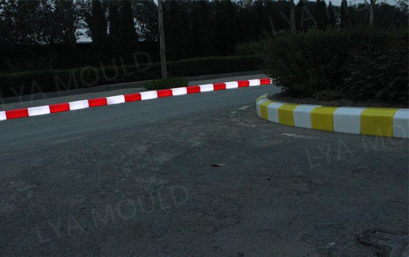 led light plastic kerb stone road side pavement buy solar system