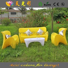 Rotomolding furniture multy-color table and chair PE material plastic sofa