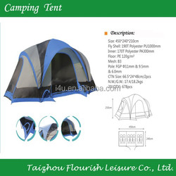4 people 3 season 2 room door ultra hiking tent/outdoor family camping