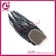 Easeful vitamins material kinky curl lace closure external form lace closure cool black hair