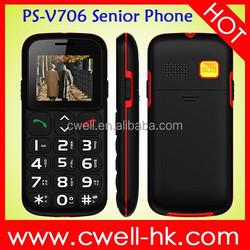 2014 type loudspeaker Dual SIM Card FM Radio Bluetooth V706 Big Keyboard Mobile Phone For Elderly