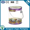 Round packing tin PVC transparent bucket