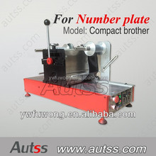 Hot Stamping Foil Machine for car, auto Number Plate, license plate