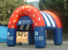 small size moving arch inflatable tent for advertisement