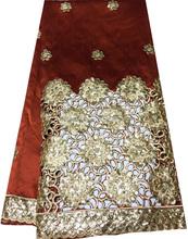 Unique design pierced george lace with sequins wholesale