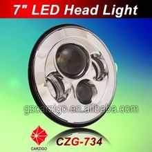 """Guangdong factory IP68 water resistant 7"""" round 4 by 4 light for defender"""