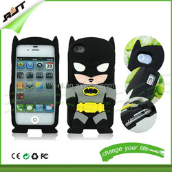 Wholesale price soft 3D silicone rubber phone case for iphone 5 silicon superman batman case