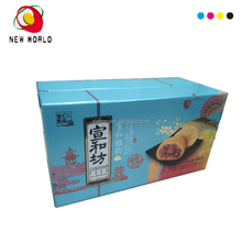 E flute corrugate with white ground for cake food paper box package