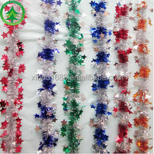 Wholesales Popular christmas decorations colorful christmas tinsel garland