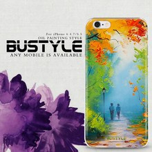 For iPhone 6s plus 3D cover case with oil painting design customized patterns are available