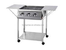 With detachable wings 3 burners BBQ gas grills A103P