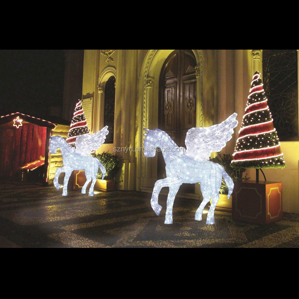 lighted horse yard decoration - Christmas Horse Yard Decorations