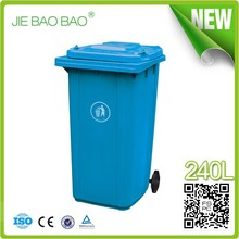 240 litros Wheelie gran cocina de plástico reciclaje can garbage exterior con tapa Ningbo