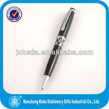 wholesale metal black shell pen, custom ball pens with logo