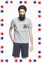 Latest Style Polka Dot Design Men's Shirt With Flower Pocket