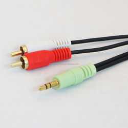 Factory price 3.5mm jack to 2rca cable audio rca cable optical audio cable rca adapter