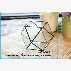 Indoor plant decoration DIY geometric hanging glass candle holder