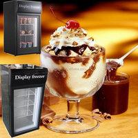 42L Glass door mini ice cream freezer