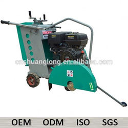 "7"" gasoline 500mm road asphalt cutting machines with water tank"