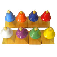 Chinese factory lovely 8 tones musical hand bell for kids