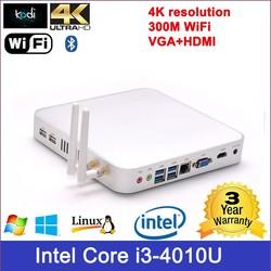 processor dual-core 1.8ghz mini aluminum htpc Core i3 processor 4010U 1.7GHz 3M cache 300M wifi USB 3.0 case slim computer