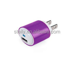 Wholesale factory supply High quality colorful usb wall charger, for iphone charger, for iphone 5 charger
