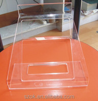 best selling custom high quality clear acrylic open book stand