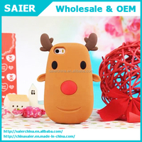 christmase Santa Claus reindeer 3d silicone phone case/cell phone accessory for iphone 6