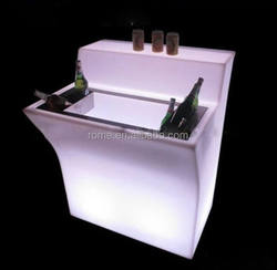 Glowing color change Night Club /Outdoor furniture /bar table counter