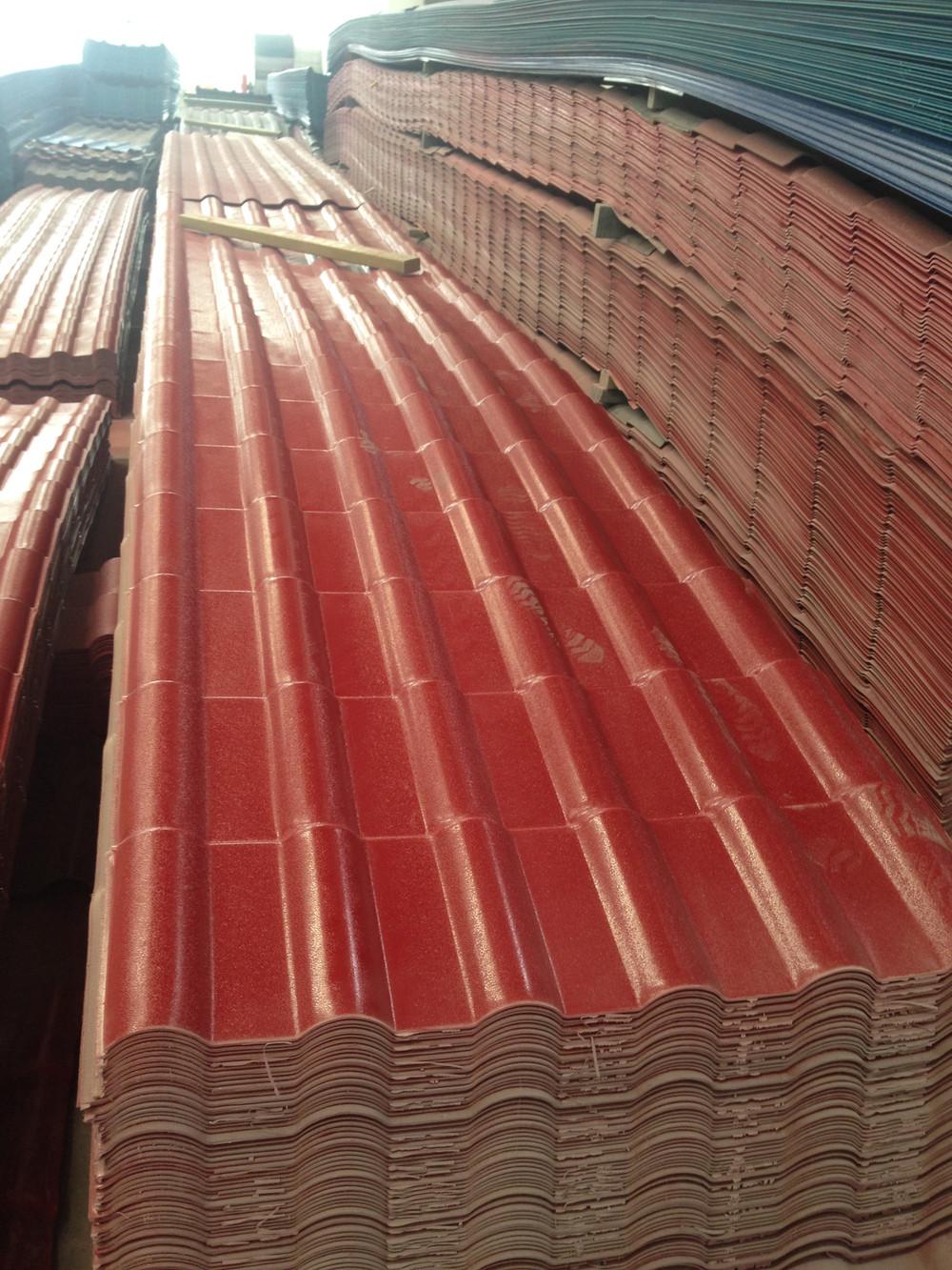 Light Weight Plastic Spanish Tile Roof Pvc Roof Tile
