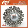 Cristal grueso estilo retro anillo de servilleta del rhinestone para la boda