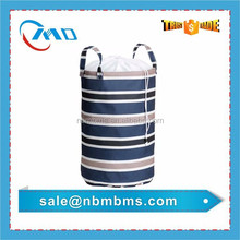 Household Durable Drawstring Stripe Printing Laundry Basket