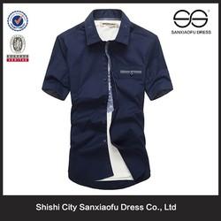 Fashion Short Sleeve Custom Shirt, Men's t Shirt, Lastest Shirt Designs For Men 2015
