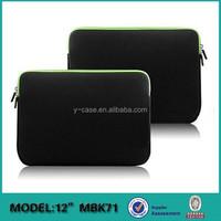 New arrival Neoprene laptop computer bag for Macbook 12' A1534 ,laptop case for Macbook ,Laptop sleeve for Macbook
