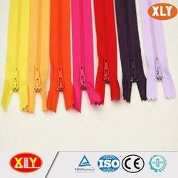 3# zipper nylon teeth with colorful tape nylon zipper