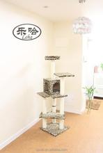 """Leopard Skin 60"""" Cat Tree Condo Furniture Scratch Post Pet House Cat Toy"""