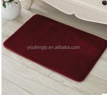 Semi-circle shape bath mat