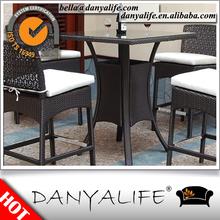 DYBAR-D540E Danyalife Rattan Weave Outdoor Cafe Square Bar Table