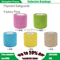 Own Factory Direct Supply Non-woven Elastic Cohesive Bandage emergency sport cohesive bandage