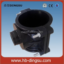 2015 DS PP CLAMP SADDLE HDPE PVC PIPE FITTING COMPRESSION PP FITTING BSP Thread 10bar With or Without Reinforcing Ring