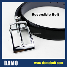 Wenzhou Factory Reversible Belt Formal Man's Belt with changeable Buckle (P518)