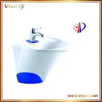 Wall mounted basin new style design chinese porcelain ceramic sink