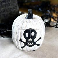 Wholesale Halloween Resin Artificial White Pumpkin