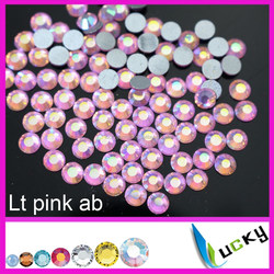 Wholesale 2058 # Flat back nail rhinestones crystal strass pink ab