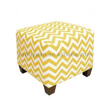 Cube ottoman knitted fabric ottoman stool