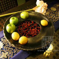 Q010-82.80 Chinese Style Decorative Synthetic Stone Shower Dry Fruit Tray
