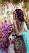 Irene Sheri, Hot Selling Excellent Figure Graceful Sexy Girl Oil Painting For Deco