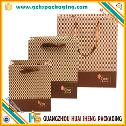 Art paper advertising printed colors white paper bags